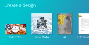 Canva social media image creation free tool
